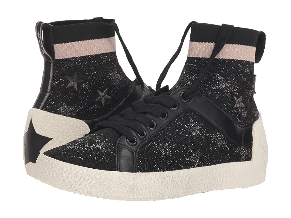 ASH Ninja Star (Black Knit/Old Silver/Rose/Black Calf) Women