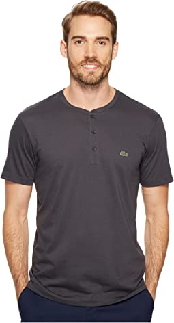 Lacoste - Short Sleeve Henley Jersey Pima Tee