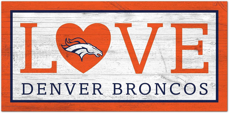service Fan Creations NFL Denver Broncos Unisex Love Max 41% OFF Sign