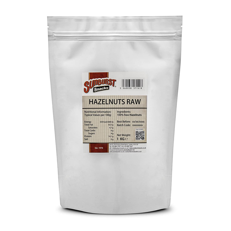 Sunburst Snacks Hazelnuts Raw Fees free!! Whole New Crop 1kg Sale price Fresh