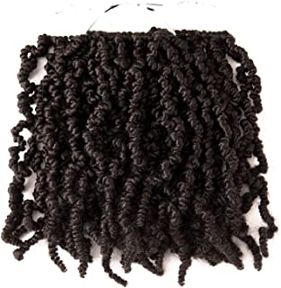 3 Packs Short Curly Spring Pre-twisted Braids Synthetic Crochet Hair Extensions 10 inch 15 strands/pack Ombre Crochet Twist Braids Fiber Fluffy Curly Twist Braiding Hair Bulk (4#)