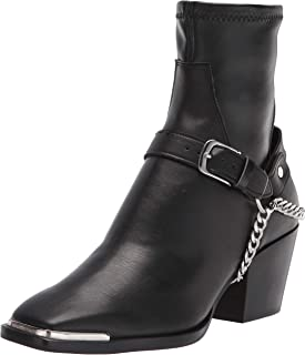 Dolce Vita Women's Western Inspired Dressy Stretch Bootie Ankle Boot, BLACK, 7