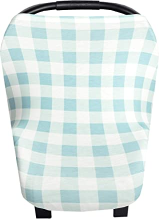 Baby Car Seat Cover Canopy and Nursing Cover Multi-Use Stretchy 5 in 1 Gift Cookies /& MilkChip by Copper Pearl