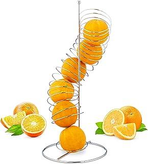 Relaxdays Lot de 7distributeurs de fruits, en spirale et en métal, panier pour oranges et pommes, espace pour 7pièces, H...