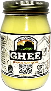 Julian's Valleys Ghee Clarified Butter, Made With Unsalted Butter, 16OZ Non-GMO, Lactose Free, Gluten Free Paleo & Keto Fr...