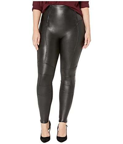 Spanx Faux Leather Hip-Zip Leggings Women