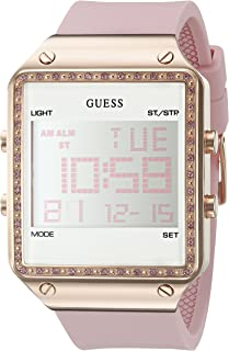 GUESS Womens Digital Silicone Watch