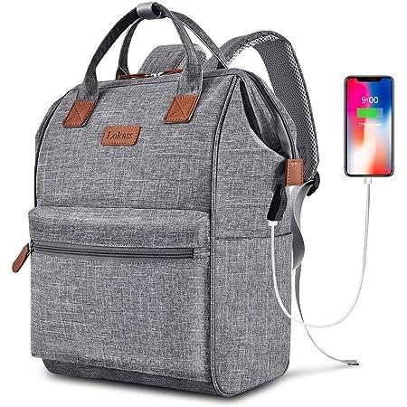 Cartoon Animal Alpaca Womens Computer Backpack College School Shoulders Bag Waterproof Travel 12.9 Inch Laptop Backpack with Grey Wool Ball Key Chain