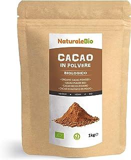 comprar comparacion Cacao Ecológico en Polvo 1 Kg. Organic Cacao Powder. 100% Bio, Natural y Puro producido a partir de Granos de Cacao Crudo....