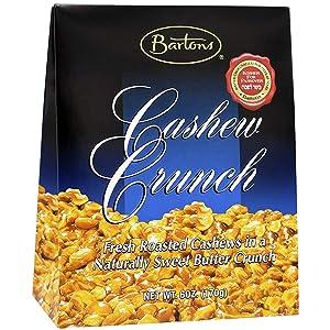 Barton's Cashew Crunch, Dairy Kosher For Passover, 6 Ounces