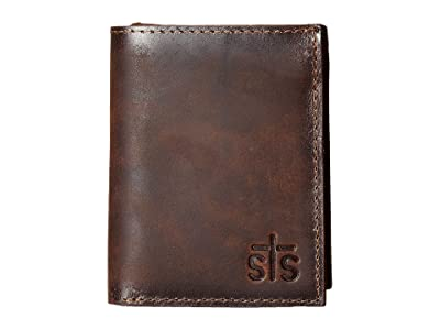 STS Ranchwear The Foreman Hidden Cash Wallet (Brown Leather) Wallet Handbags