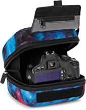 USA GEAR Hard Shell DSLR Camera Case (Galaxy) with Molded EVA Protection, Quick Access Opening, Padded Interior and Rubber Coated Handle-Compatible with Nikon, Canon, Pentax, Olympus and More