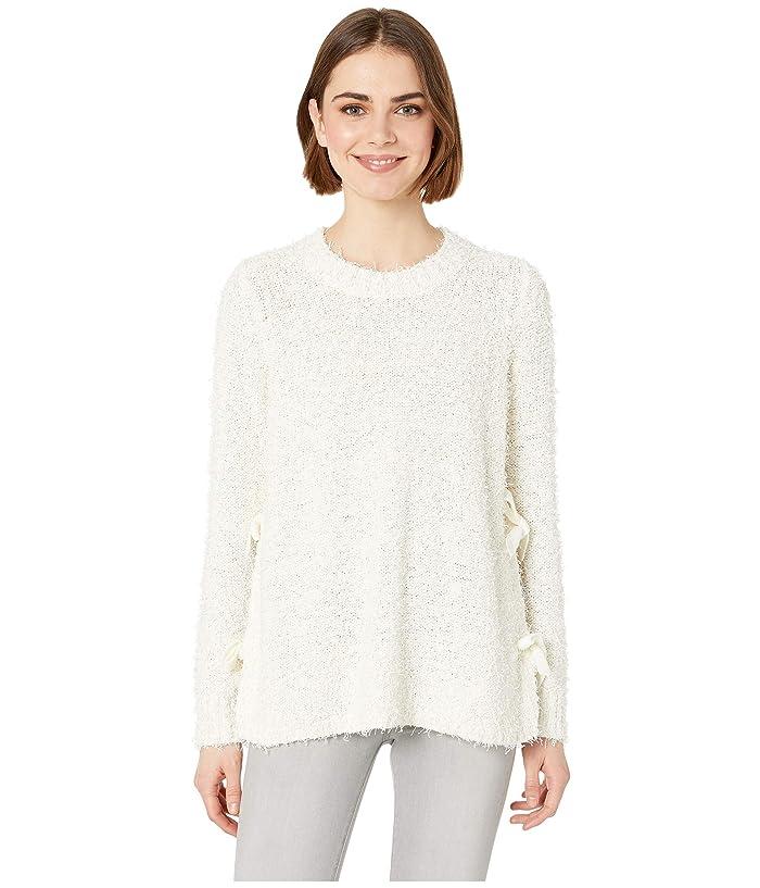 Jack by BB Dakota Tie Your Best Mixed Yarn Tie Side Sweater (Off-White) Women