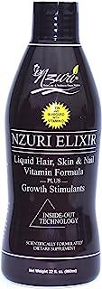Nzuri Elixir Liquid Hair, Skin and Nail Vitamin Formula Plus Growth Stimulants, 32 Ounce