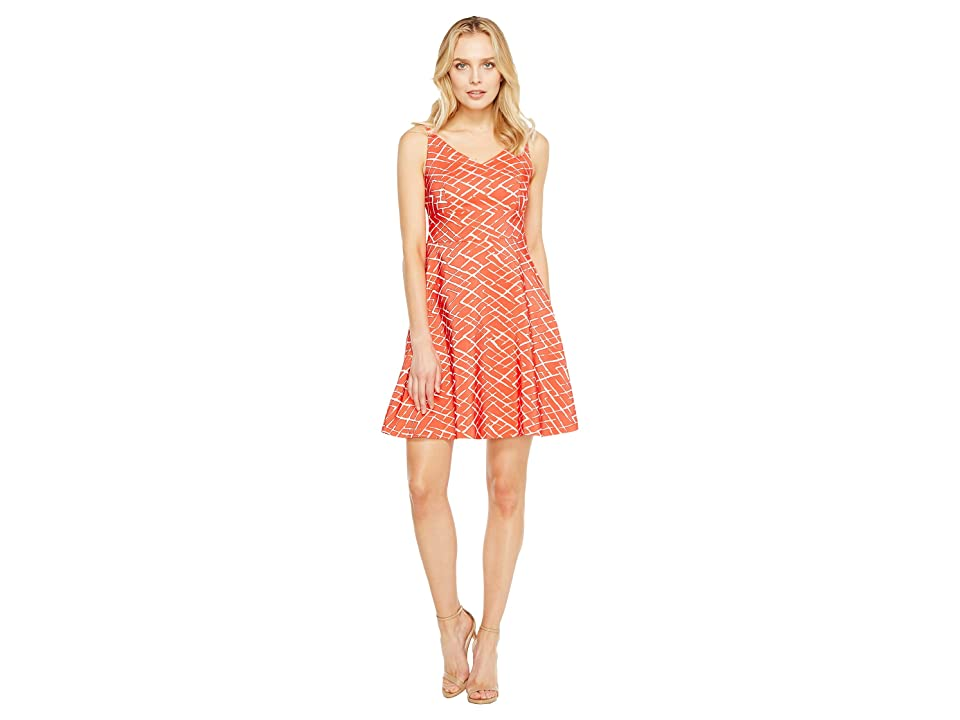 CeCe Miley Sleeveless Texture (Fiery Red) Women