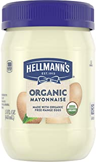 Hellmann's Organic Mayonnaise for Delicious Sandwiches Original Mayo Rich in Omega 3-ALA 15 oz