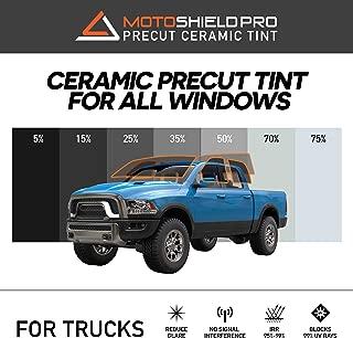 MotoShield Pro Precut Ceramic Tint Film [Blocks Up to 99% of UV/IRR Rays] Window Tint for Trucks - All Windows, Any Tint Shade
