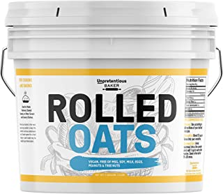 Rolled Oats, 1 Gallon Bucket by Unpretentious Baker, Highest Quality, Old Fashioned Oats, Whole Grain, Naturally Nutritiou...
