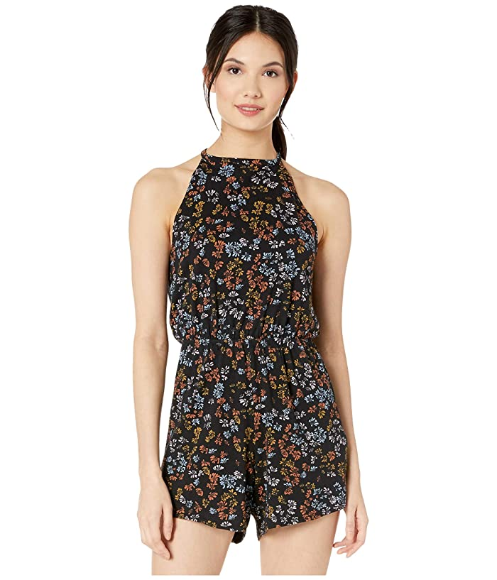 Vintage Rompers, Playsuits | Retro, Pin Up, Rockabilly Playsuits RVCA Monsoon Romper Black Womens Jumpsuit  Rompers One Piece $43.99 AT vintagedancer.com