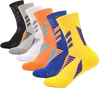 WeciBor Men's sport Running Socks Wicking Breathable Comfortable Multi Performance Walking Athletic Casual Crew Socks