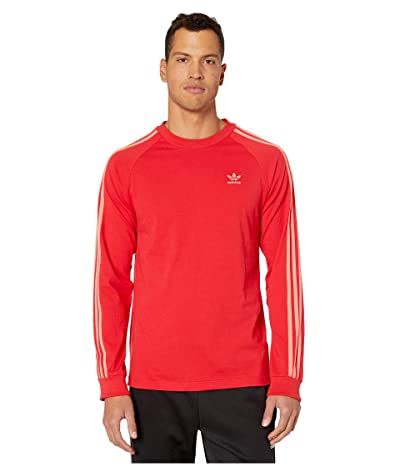 adidas Originals BLC 3-Stripes Tee (Scarlet) Men