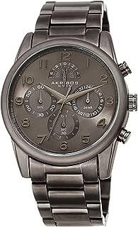 Akribos Chronograph Multifunction Men's Watch - 4 Sub-dials Stainless Steel Stylish Analog Quartz Wristwatch – AK1042YG