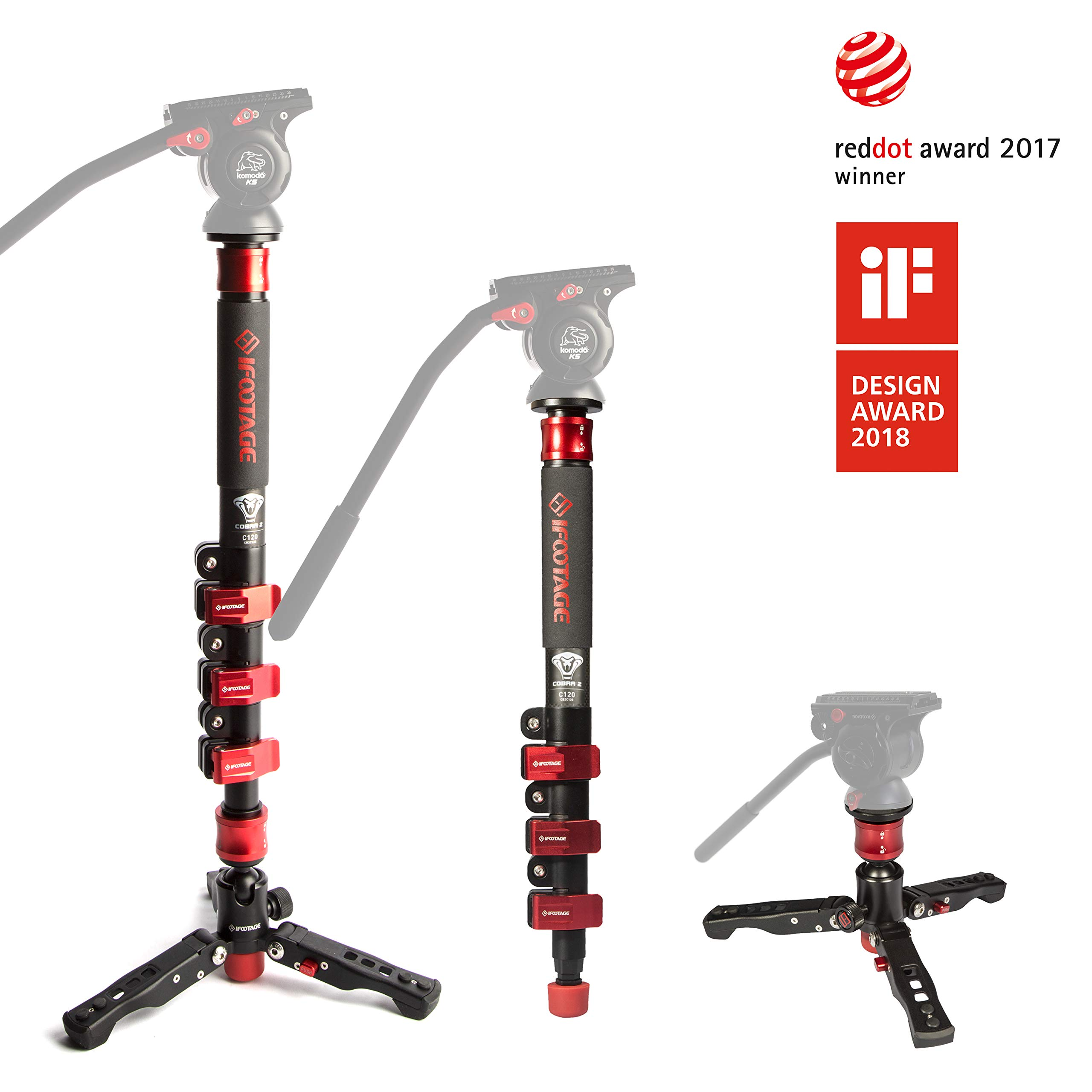 IFOOTAGE Monopod Section Compatible Camcorder