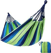 SONGMICS Hamaca Colgante Tejido Polialgodón Relajar en Jardín Camping 210 x 150 cm Carga de 300 kg Colorido GDC15L