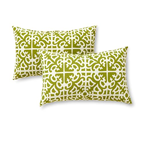 Greendale Home Fashions Rectangle Outdoor Accent Pillow (set of 2), Grass - Replacement Cushion Covers For Outdoor Furniture: Amazon.com