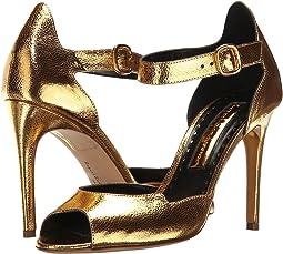 Gold Metallic Grain Nappa