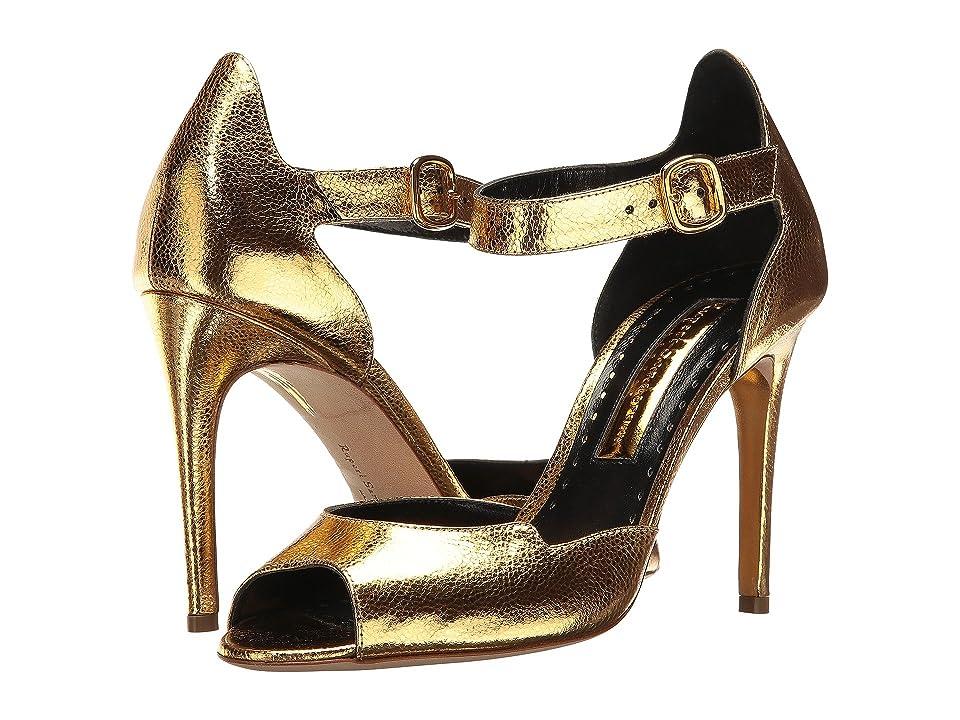 Rupert Sanderson Telita (Gold Metallic Grain Nappa) High Heels