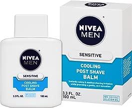 NIVEA Men Sensitive Cooling Post Shave Balm - Calms and Cools Skin After Shaving - 3.3 fl. oz. Bottle (Pack of 3)