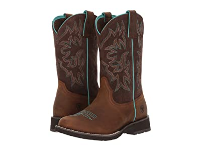 Ariat Delilah Round Toe (Distressed Brown/Fudge) Cowboy Boots