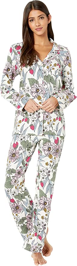 Long Sleeve Classic Notch Collar Pajama Set