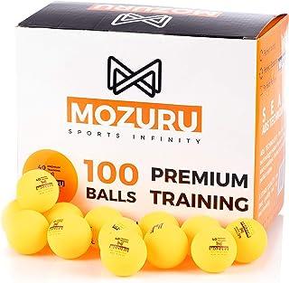 MOZURU Pelotas de Ping Pong Pack 100 Unidades, 100 Pelotas