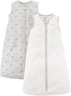 Carter's Baby 2-Pack Cotton Sleepbag, Ivory/Grey...