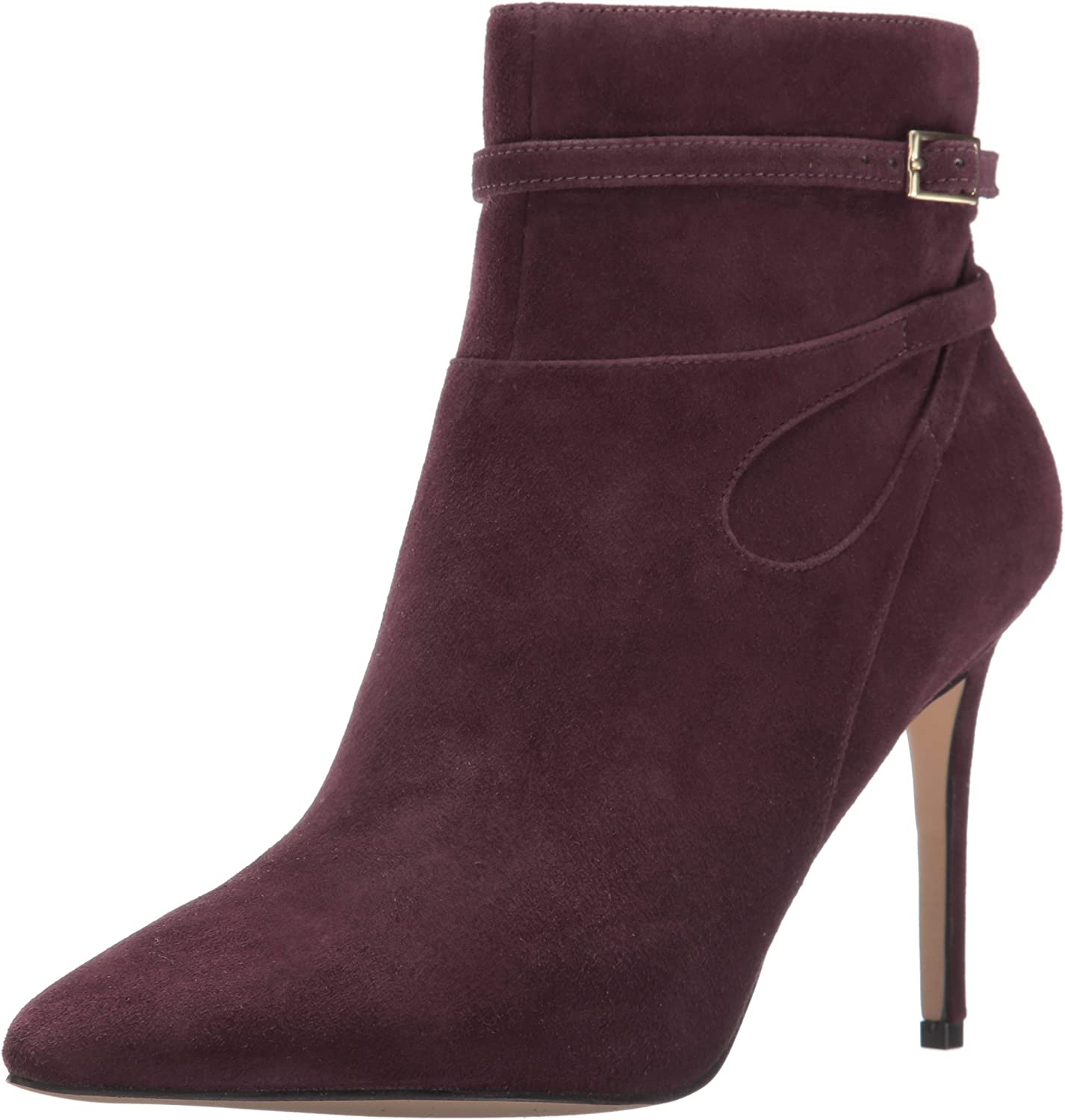 Nine West Womens Tanesha Suede Ankle Bootie