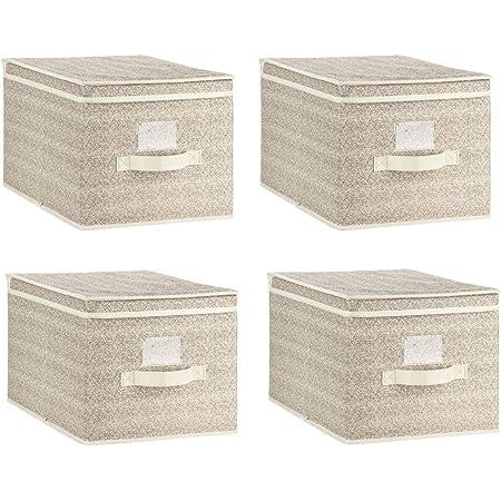 3 x Faltbar Organizer Aufbewahrungsbox mit Trennfächer Ordnungsbox Sortierbox