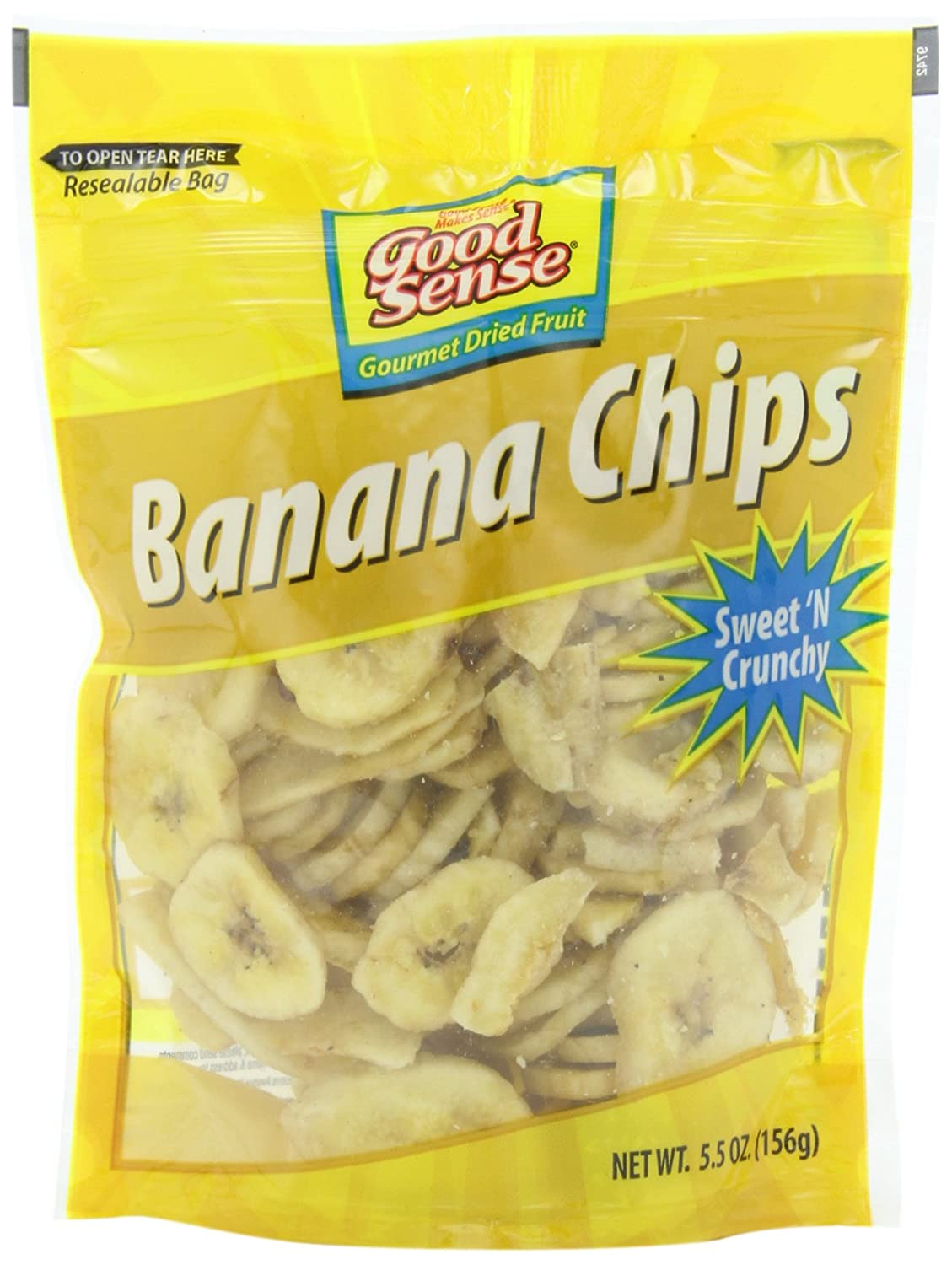 Good Sense Banana Now on sale Chips 5.5-Ounce Pack of 12 New mail order