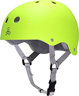 Triple Eight Sweatsaver Liner Skateboarding Helmet,  Zest Rubber,  X-Small