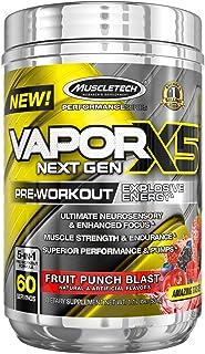 MuscleTech Performance Series Vapor X5 Next Gen Pre-Workout Powder,fruit punch 1.17 lbs.