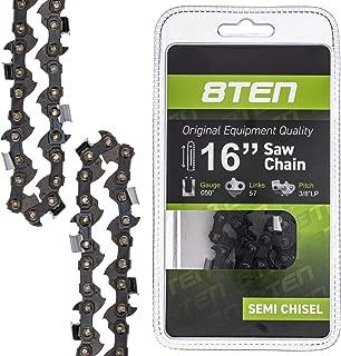 8TEN Chainsaw Chain for Husqvarna Poulan 1950 2050 2155 2055 2175 2250 John Deere 16 Inch .050 3/8 57DL