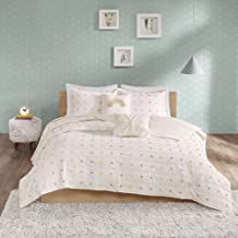 Urban Habitat Kids Callie 4 Piece 100% Cotton Coverlet Jacquard Pom, Double Sided, Embroidered Pillow Quilt Hypoallergenic...