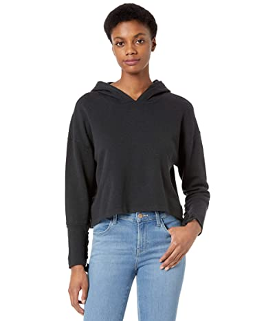 Chaser Cashmere Fleece Lace-Up Sleeve Pullover Hoodie