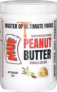 MUF Peanut Butter (Vanilla Cream) Creamy   Smooth   1 KG   HIGH Protein   Vegan