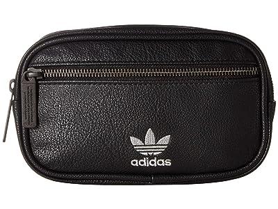 adidas Originals Originals PU Leather Waist Pack (Black/Silver) Bags