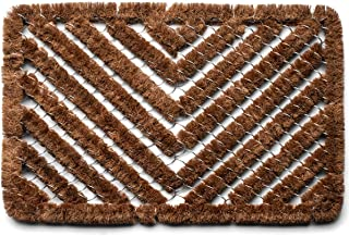 """Kings County Tools Large Natural Coir Doormat   Keep Dirt Out of Your House   Machine Woven with 1-1/4"""" Strands   Tough & ..."""