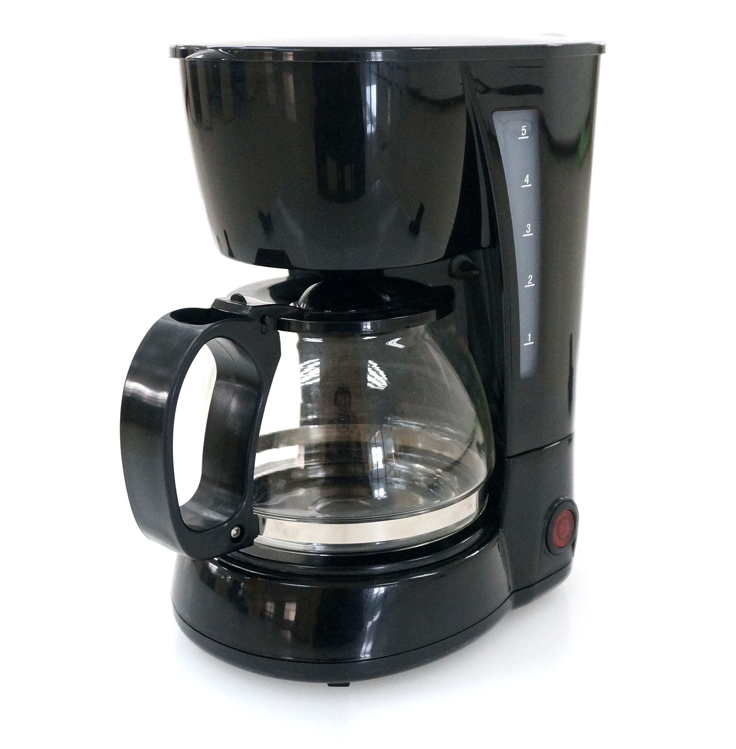 Family Care Cafetera de Goteo, cafetera eléctrica, Jarra 0.6 litros para 4 Tazas, Acero inoxidable y plástico, color Negro, 650 W: Amazon.es: Hogar