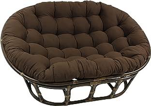 Blazing Needles Solid Twill Double Papasan Chair Cushion, 58