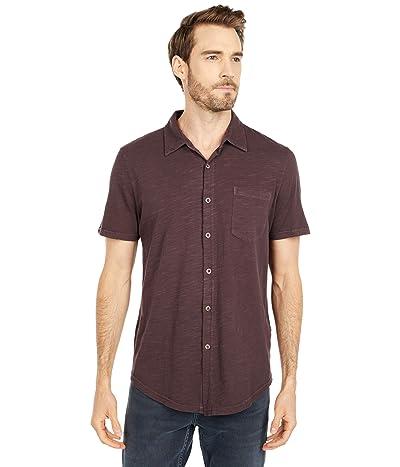 Mod-o-doc Montana Short Sleeve Button Front Shirt (Black Plum) Men